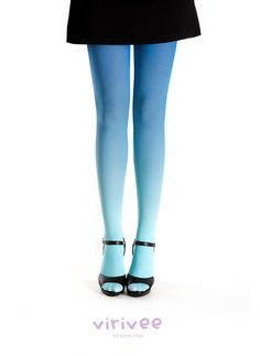 Ombre tights turquoise  blue by virivee on Etsy