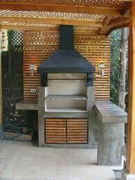 Indoor Patio On A Budget. Outside Living, Outdoor Living, Parrilla Exterior, Outdoor Kitchen Bars, Backyard Bbq, Patio Design, Porches, Interior And Exterior, Pergola