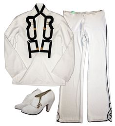 Prince black and white costume, believed to be worn to an awards show in the late 1990s. Two-piec