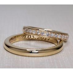 Verighete din Aur cu diamante v860
