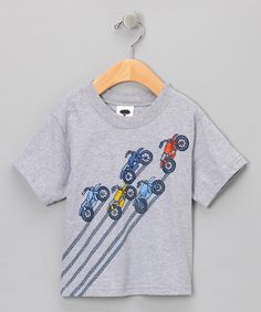 Take a look at this Gray Motorcycle Tee - Boys by Mulberribush on #zulily today!