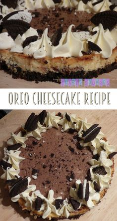 Delicious vanilla and chocolate oreo cheesecake, simple easy to follow recipe at the Clare's Squares blog!