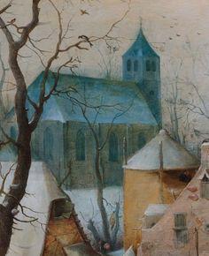 Detail from Winter Landscape with Skaters, Hendrick Avercamp, 1608