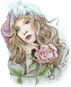 by Johanna Pieterman, one of my favorite artists. She does great Stevie Nicks art.