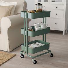 RÅSKOG Roltafel, grijsgroen, 35x45x78 cm - IKEA