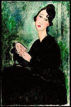 Amedeo Modigliani (Italian, 1884-1920) - Portrait of Dedie, 1918