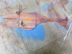 Scrap Metal Fish,painted