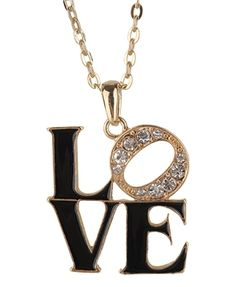 Love Charm Necklace - Accessories - Jewelry - 1000028589 - Forever21 - StyleSays