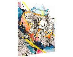 Psychedelic art  Canvas Print  Monkey Art  by ArtOfPrincessM