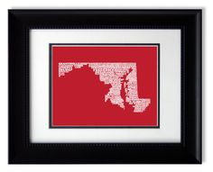 State of Maryland - The Free State Poster Print by CMSStationery on Etsy https://www.etsy.com/listing/101625118/state-of-maryland-the-free-state-poster