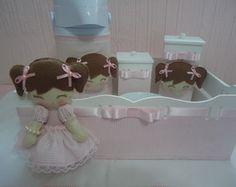 Kit Higiene Boneca listradinha