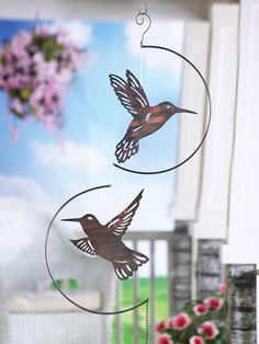 Hanging Metal Hummingbird Silhouette Mobile Item #20855 $6.97 [Hummingbird  Mobile] Exclusive Larger View