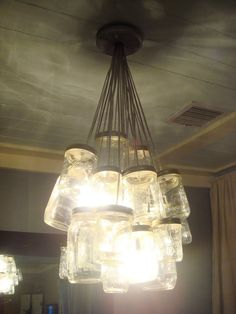 mason jar - lamp - diy - decor - interior