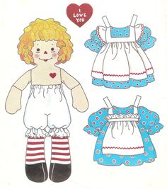Mostly Paper Dolls: Raggedy Ann and Andy