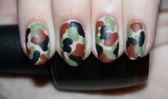 NAIL ART TUTORIAL: IN THE ARMY NOW. Click the photo to see the full tutorial by Polish You Pretty!