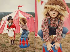 Circus themed photo shoot. Daniel and I want to do this style of photography.