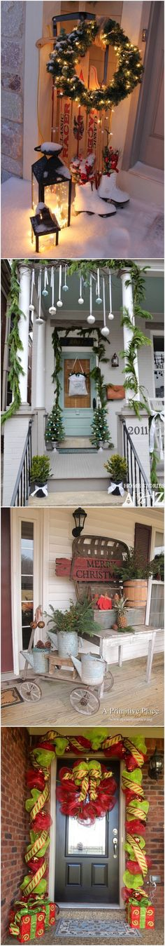 Decorating Porch for Christmas  Ideas  #christmasporch #outdoorchristmasdecor