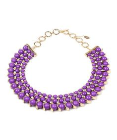 This Purple Austrian Crystal Gypsy Necklace by Amrita Singh is perfect! #zulilyfinds