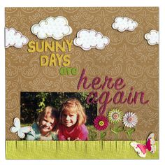 Family Layout American Crafts Hello Sunshine