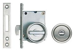 Sugatsune HC-30 - Sliding Door Privacy Latch - EACH (Satin Stainless Steel) - The Hardware Hut