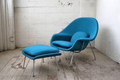 Saarinen Womb Chair and Ottoman by Knoll, Original 1965. $3,800.00, via Etsy.