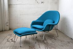 Saarinen Womb Chair & Ottoman /via MadsenModern on Etsy