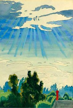 Sunlight after the Rain,-1916 Charles Burchfield