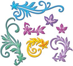 Spellbinders Shapeabilities - Floral Flourishes 7 Die Set S4-327: Amazon.co.uk: Kitchen & Home