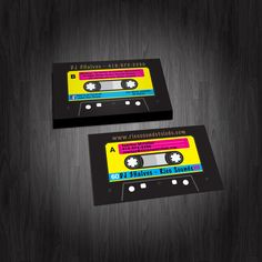 A more formal business card design for a wedding dj that we have another cassette tape business card design for a dj httpnerdydesigns colourmoves