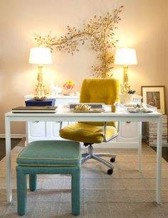 How to make an office desk chair not look ugly