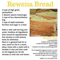 Miss Nanas cooking Kiwi Recipes, Baking Recipes, Bread Recipes, Kiwi Dessert, Sourdough Bread Starter, Savory Scones, Dessert Spoons, Island Food, How To Make Bread
