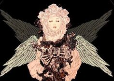 Takato Yamamoto y su lado del espejo – Thanatosartegore Japanese Illustration, Art And Illustration, Arte Horror, Horror Art, Art Goth, Gothic Art, Art Vampire, Drawn Art, Wow Art
