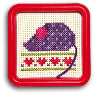 Unique Square Embroidery Hoops, Two-Sided Mini-Frames, Instruction Books, and Counted Cross-Stitch Kits for beginners, needleworkers, and crafters of all ages.