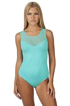 Hollywood Star Fashion Women's Sleeveless Mesh-back Sweetheart Leotard BodySuit * Check this awesome item by going to the link at the image.