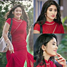 Preety naira ❤ @shivangijoshi18 #shivangijoshi #mohsinkhan #kaira #love #yrkkh #starplus Trendy Sarees, Fancy Sarees, Choli Dress, Floral Maxi Dress, Lehenga Gown, Indian Bridal Fashion, Saree Styles, Blouse Styles, Saree Look