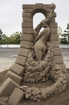 Beautiful Lady Sand Art