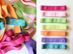 link to a great source for buying colored elastic, use for skirts and headbands