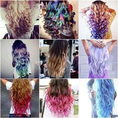 Hair Styles hair pretty color collage dye long wavy styles different