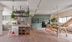 Living with Plants: A Family Apartment in Taiwan