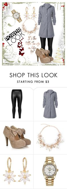 """""""Win $20 Cash from Rosegal!"""" by slavka-jovic ❤ liked on Polyvore featuring Zizzi, Rolex, cute and Elegant"""