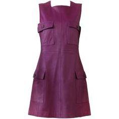 Gianni Versace Leather Tunic Dress Fall 1995