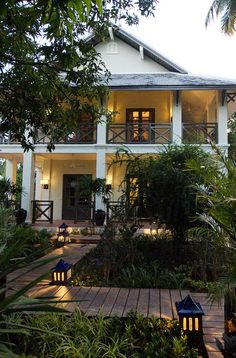 A former royal residence, Villa Maly is now a tranquil haven of seven colonial villas surrounded by lush tropical gardens. #Indistay   Luang Prabang, Laos