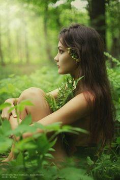 Forest Nymph by Natasha Kadantseva . Embrace the green. Fantasy Photography, Nude Photography, Portrait Photography, Implied Photography, Woods Photography, Photography Ideas, Fashion Photography, Poses Photo, Photo Shoot