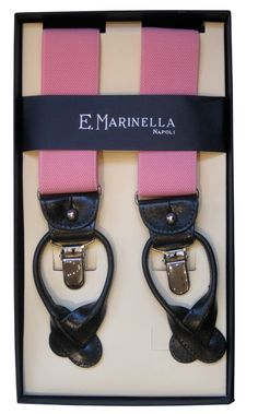 Marinella Braces with Leather trim / Made in Italy  102VA26