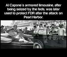 Al capones business card said he was a used furniture dealer al capones limo used by fdr colourmoves