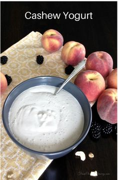 how to make healthy vegan cashew yogurt recipe FromOurHideaway.com Cashew Yogurt, Siggis Yogurt, Yogurt Popsicles, Yogurt Smoothies, Yogurt Parfait, Frozen Yogurt, Greek Yogurt, Yogurt Sauce, Vanilla Yogurt