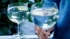 Gin  tonic eli GT on alkusyksyn trendikkäin drinkki. Raikas ja tuore inkivääri sekä laakerinlehti maustavat suosikkijuoman. Gin And Tonic, White Wine, Alcoholic Drinks, White Wines, Liquor Drinks, Alcoholic Beverages, Liquor