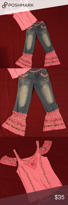 The English Rose kids collection by Madonna Super cute & fun outfit!  Size 7. In great used condition. Purchased at a children's boutique and my daughter only wore one time. The English Rose Matching Sets
