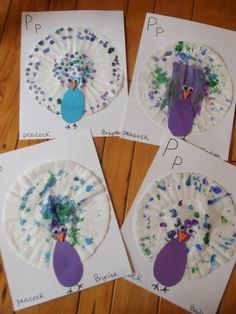 Pp is for Peacock (from Like Mama ~ Like Daughter: Enchanted Childhood Preschool)