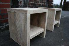 Steigerhouten nachtkastje zonder lade   deHoutshop